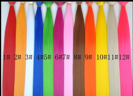 Wholesale Feather Loop - 16''Synthetic Grizzly Feather Hair Extension Feather Extensions 500pcs Free beads and 1PCS needle