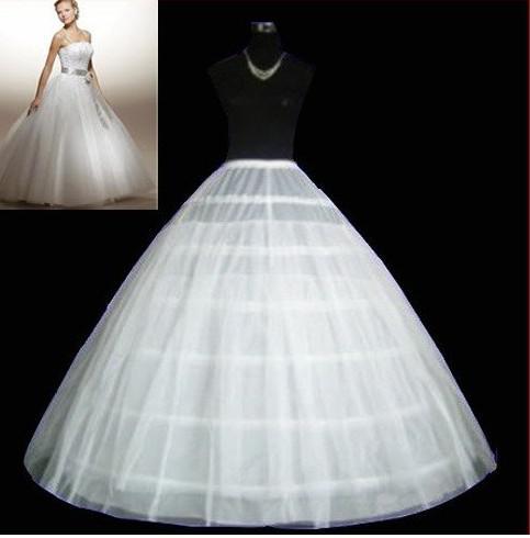 Cheap 6 Hoops Ball Gown Wedding Petticoat High Quality Cheap Bridal