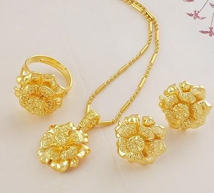Wholesale Part Women s Jewelry Set Yellow Gold Filled Necklace