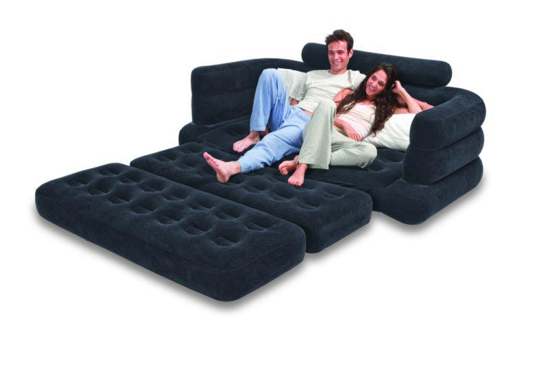 2020 Inflatable Pull Out Sofa Amp Queen Bed Mattress Sleeper