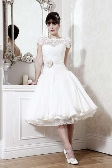 Discount ! Short Retro Lace Wedding Dress Party Evening Dresses ...
