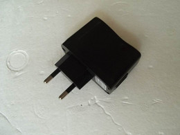 2019 cargador sony vtc4 Cargador USB al por mayor del enchufe de la UE del negro 220V para el viaje con DC5V = 500mA, 100pcs / lot