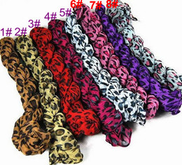 Wholesale Scarf Leopard Color - Leopard Grain Scarf Assorted Color Wholesale hotsale promotion Free shipping W4112