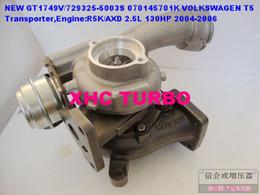 Wholesale Turbocharger Gt1749v - GT1749V 729325-5003S 070145701K Turbocharger for VOLKSWAGEN T5 Transporter,Engine:R5K AXD 2.5L 130HP
