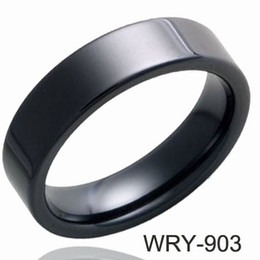 Wholesale Tungsten Comfort Fit Wedding Bands - 8mm Simple Black Tungsten Ring Wedding Rings Real Men Ring Comfort fit Low price