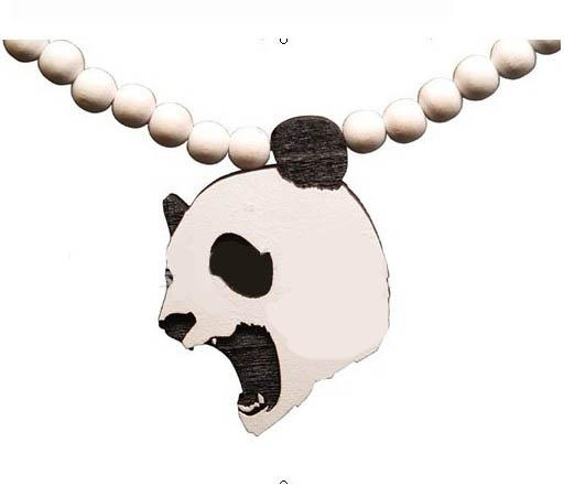 Panda piece!HipHop GOOD NYC UK WOOD Good wood necklace Rosary beaded wood necklace Freeshipping