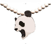 Wholesale Good Wood Pieces - Panda piece!HipHop GOOD NYC UK WOOD Good wood necklace Rosary beaded wood necklace Freeshipping