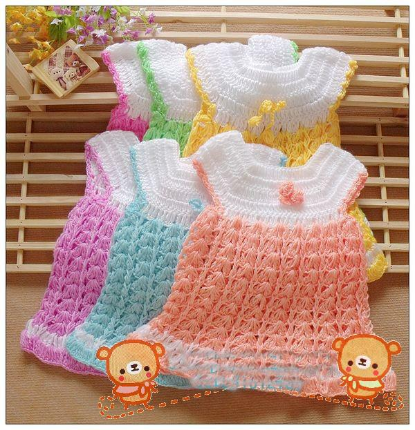 Ful Children Baby Girl Knitting Wool Dress Children Dress