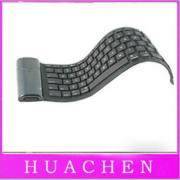 Wholesale Silica Gel Soft Keyboard - KB-6116E bluetooth wireless waterproof but curly mobile silica gel soft keyboard 84 keys