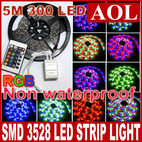 Smd 3528 rgb multi color flexible led strip light non waterproof 5m smd 3528 rgb multi color flexible led strip light non waterproof 5m 300leds 24 keys remote 35mdimmable led strip lights car led strip lights from mozeypictures Images