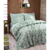 Eponj Home Natural Pique Printed Single Pure Water Green HB0...