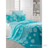 Eponj Home Natural Pique Printed Single Simay Turquoise eaks...