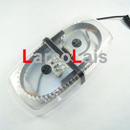 240 LED bil tak flash strob magneter nöd EMS ljusskal blinkande ljus Amber White