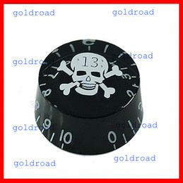 Wholesale Electric Guitar Parts Knobs - Freeshipping 1Pcs Black Skull Speed Control Knob For Gibson Les Paul Electric Guitar Part