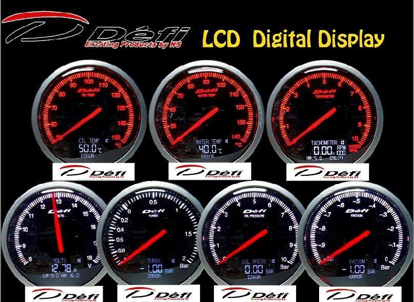 2018 60mm defi gauge bf oil press oil temp turbo gauges with lcd digital display auto gauge. Black Bedroom Furniture Sets. Home Design Ideas