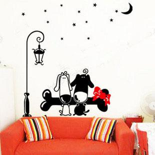 Wholesale   Cartoon Dog WALL DECALS ART MURAL WALL STICKER WALL DECOR Y 29  2018 From Homedecor208208, $11.06 | DHgate Mobile