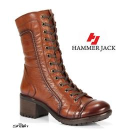 Hammer Jack 2979 Tan echtes Leder Winterstiefel für Frauen HB000004OHW3 im Angebot
