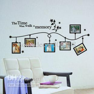 Decorative Wall Decals wholesale photo frame vinyl wall decals removable art mural wall