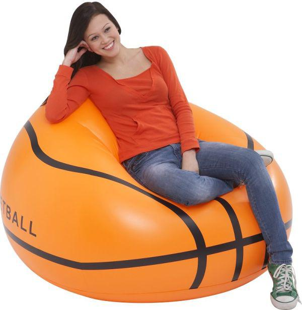 2019 Basketball Shape Single Air Sofa With Intex Hand Pump