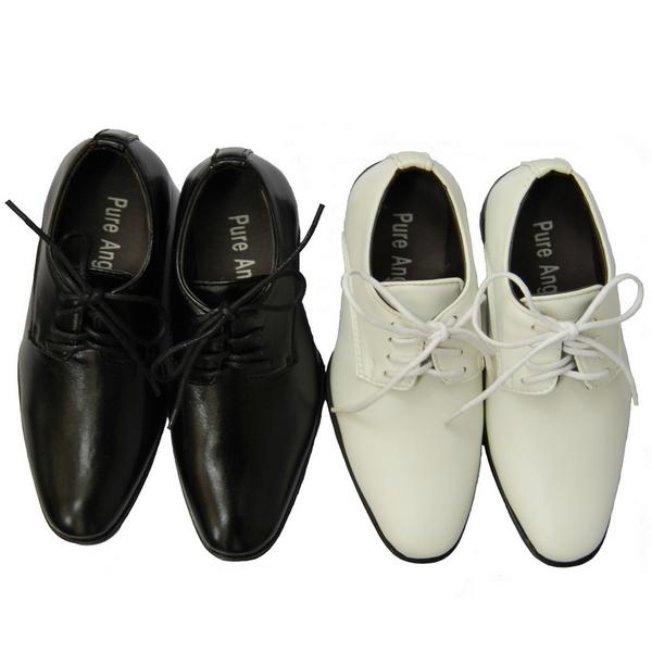 35001 White Amp Black Youth Boys Snake Formal Dress Pointed Shoes