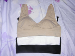 Wholesale genie bras for sale - Group buy 30sets Bra Set Genie And Seamless Pullover With Remove Pads Wide Shoulder Straps set
