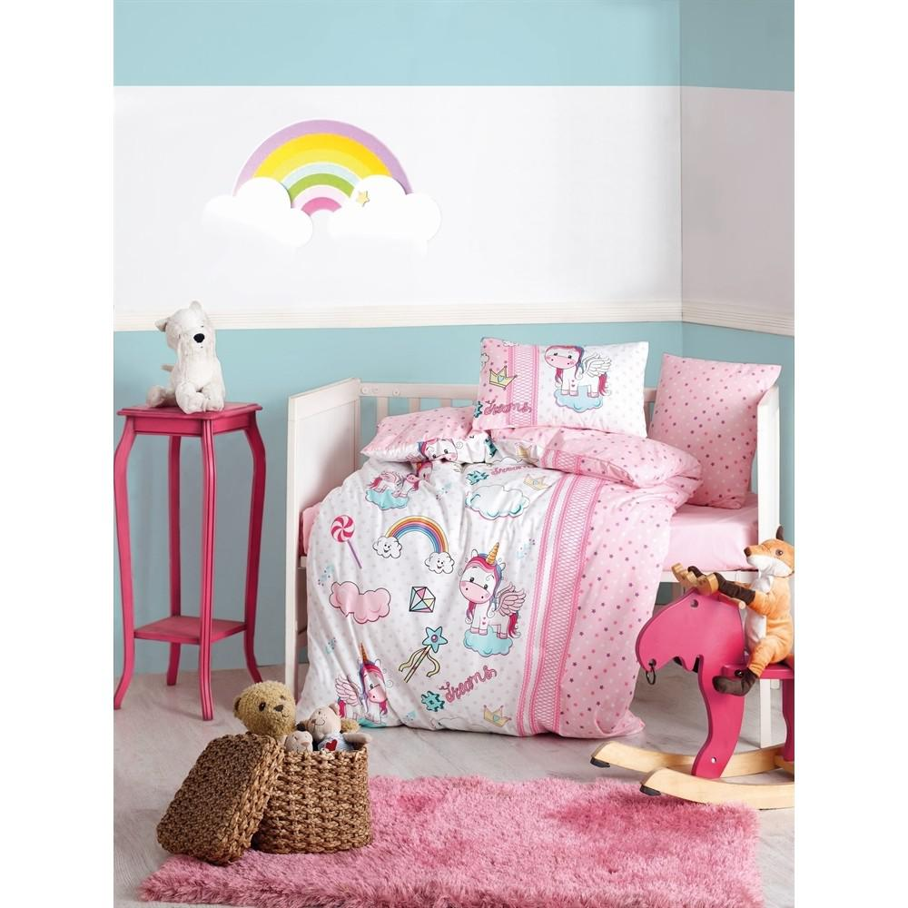 Koton Box Baby-Bettwäsche Set - Einhorn Rosa HB00000EAJWL