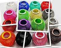 Wholesale Craft Basketball Beads - HOT Mix Colors 14mm 300pcs Basketball Wives Inspired Hoop Earrings Mesh Beads Craft Findings