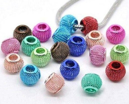 Wholesale Metal Basketball Bead - NEW 100PCS Lots Basketball Wives Earrings Mesh Spacer Beads Craft Findings Mix Colors 20mm