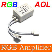 Wholesale Dc Unlimited - 5pcs RGB Amplifier RGB LED Strip light amplifier unlimited Small power amplifier RGB controller