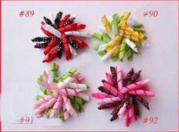 Wholesale Korker Flowers - - Free Shipping Children's curlers bows flowers hair barrettes baby's korker ribbon hair clips 500pc
