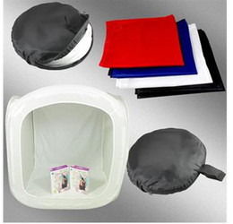 "Wholesale Light Tent Cube - 16"" 40cm PHOTO STUDIO TENT LIGHT SHOOTING SOFT CUBE BOX- 4 backgrounds 12pcs"