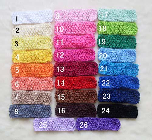 "Wholesale - 1.5"" Crochet Headbands Girls U Pick Colors Headbands Girl Hair Bow Headband Hairbow"