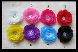 Wholesale Waffle Knit Headbands - 8 Colors 3''Baby Hair Bows Crochet Headband Knit Waffle Headband With Flower