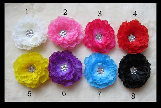 8 Colors 3''Baby Hair Bows Crochet Headband Knit Waffle Headband With Flower