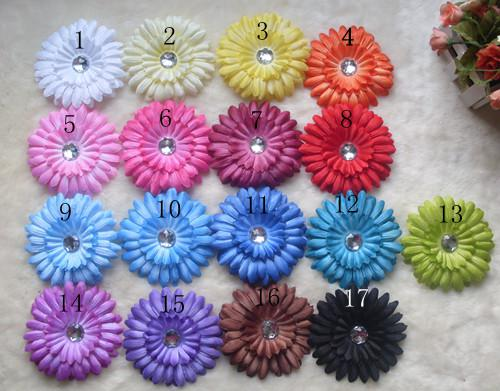 "4"" Gerbera Daisy Children's Hair Accessories baby Girls Flower Clip"