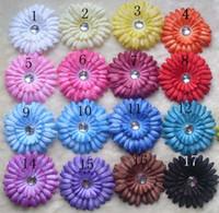 "Wholesale cotton paper flowers - 17 Colors 4"" Gerbera Daisy Children's Hair Accessories baby Girls Flower Clip"