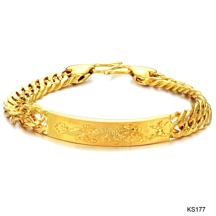 18 k Gold Plating 20.5cm Charming Bracelet for men Exquisite ...