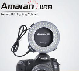 Kamera beleuchtung makro ring online-Aputure AHL-C60 LED Videoleuchten LED Ringblitzlicht Makro Blitzlicht für Canon Kamera