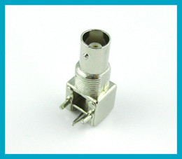 Wholesale Right Angle Pcb Mount Connector - BNC Jack PCB mount right angle connector nickelplated free shipping
