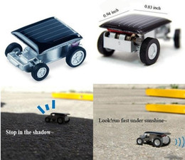 Wholesale Small Mini Toy Cars - Smallest Mini Solar Car Powered Robot Racing Cars Toy Gadget new design factory price 20pcs lot CN