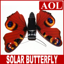 2019 pájaro volador de juguete al por mayor Juguete solar del regalo de la Navidad, juguete del niño de la energía solar de la mariposa de la simulación de la energía solar con el paquete al por menor