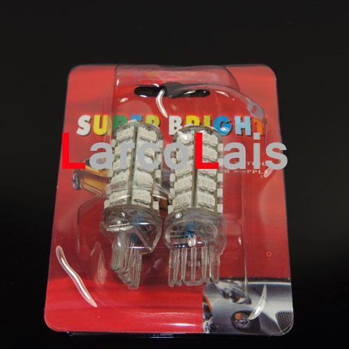 2 Sztuk 7440 7443 T20 68 SMD hamulca LED Włącz żarówki Bursztynowe 68 LED Żarówki