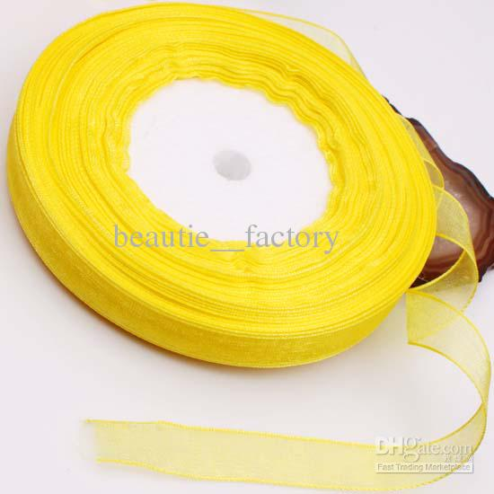 10Rolls Organza Ribbon 12mm Bridal Decor Edge Gift Jewelry Wrap Ribbon Multi colors 1 Roll 50yds