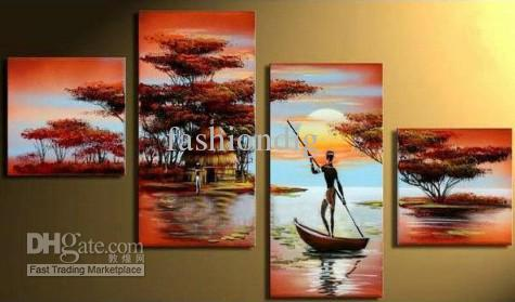 Painting Canvas African Landscape Abstract Oil Painting