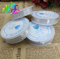 Wholesale DIY mm white crystal elastic jewelry string Roll