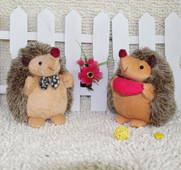 top popular Free Shipping Stuffed Animals 18 CM The New Couple Hedgehog Toys Christmas gifts for Halloween toys 2020