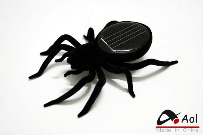 Mini gadget educativo del regalo del giocattolo di divertimento di insetto del robot del ragno alimentato solare con il pacchetto al minuto trasporto libero
