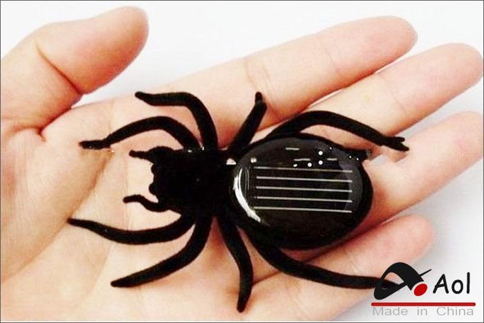 Siyah Güneş Örümcek Bilim Doğa Eğitim Öğrenme Oyuncaklar Güneş Enerjili Robot Noel hediyesi