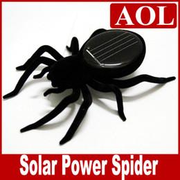 großhandel solargarten neuheiten Rabatt Black Solar Spider Science Natur Pädagogisches Lernspielzeug Solarbetriebene Roboter Weihnachtsgeschenk