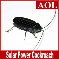 Wholesale Solar Power Black Cockroach Bug - Solar Toy,Power by Solar energy Robot Insect Bug Solar Power Cockroach Toy Gift Educational kid